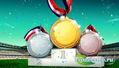 PSD исходник для фотошопа - Медали