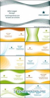 Шаблоны визиток в векторе EPS