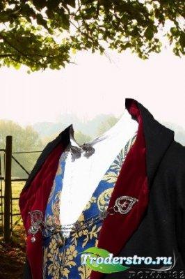 Шаблон для фотошопа - Сардский костюм