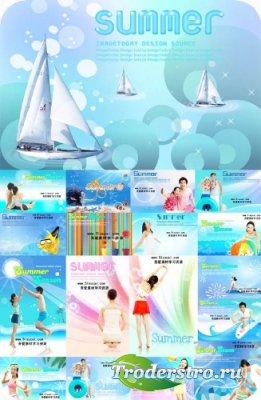 Image Today - Summer Season - PSD исходники для фотошопа