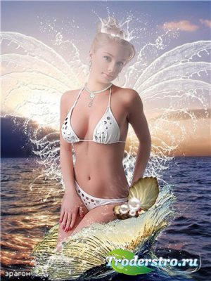 Женский шаблон для фотошоп – Морская фея