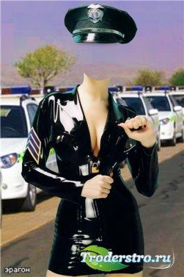 Женский шаблон для фотошоп – Полиция