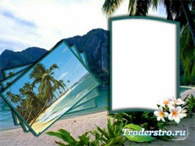 Рамка для фотошопа - Экзотическая открытка