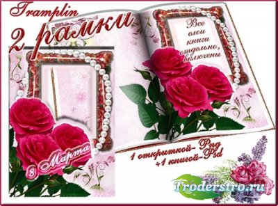 Две Рамочки для фотошопа - Розы