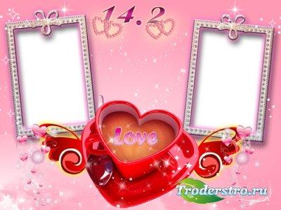 Рамка для фотошопа - День Святого Валентина