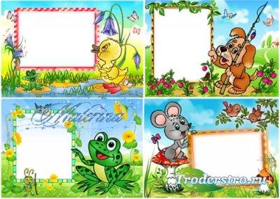Детские рамки для фотошоп - Дружная четвертка