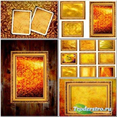 Золотые рамки для фотошопа - Stock Photos