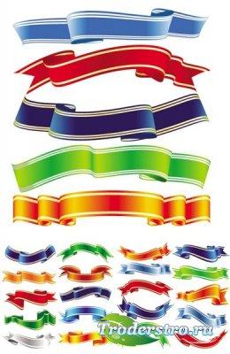 Color Ribbons Vector - Клипарт для фотошопа