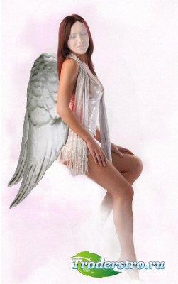 Шаблон для фотошопа - Белый ангел