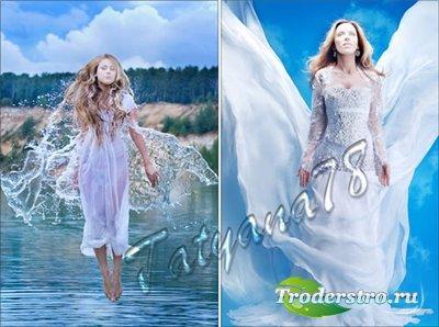Шаблон для фотошопа - Ангелы