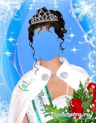 Шаблон для фотошопа - Мисс красоты 2010