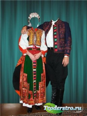 Шаблон для фотошопа - Венгерский костюм
