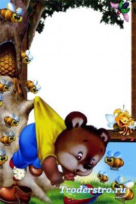 Рамочка детская для фотошопа - Впоход за мёдом