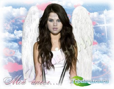 Женский шаблон для фотошопа - Мой ангел...