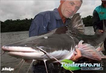 Шаблон для фотошопа - Чудо рыба!