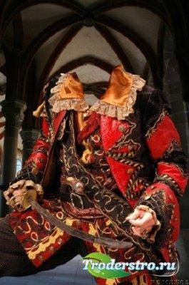 Шаблон для фотошопа - Старинный костюм 3