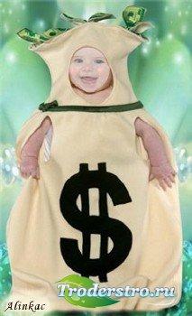 Детский шаблон для фотошопа - Будущий миллионер!