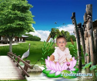 Детский шаблон для фотошопа - Кувшинка