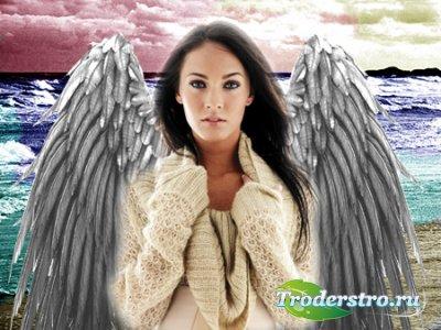 Шаблон для фотошопа - Ангелы здесь больше не живут
