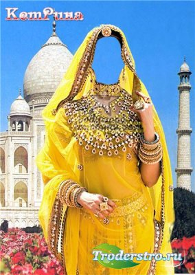 Шаблон для фотошопа - Индианка