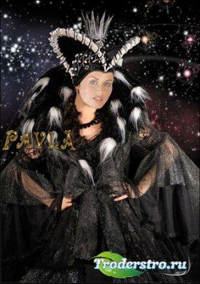 Шаблон для фотошопа - Чёрная королева
