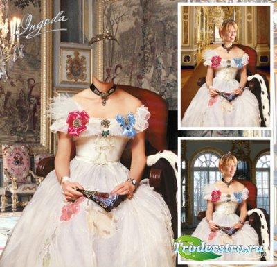 Шаблон для фотошопа - Королевская особа
