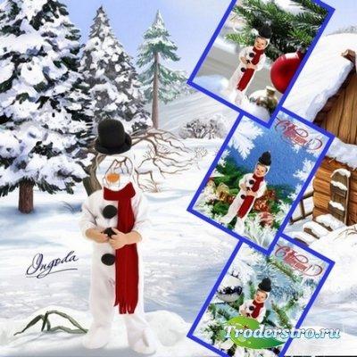 Шаблон для фотошопа - Игрушка на елку