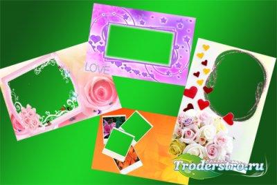 Романтические рамки для фотошопа