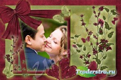 Рамка для фотошопа - Бархатная любовь