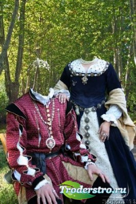 Шаблон для фотошопа - Королевская чета