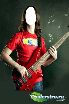 Шаблон для фотошопа – Гитарист