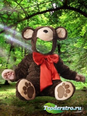 Шаблон для фотошопа – Медвежонок