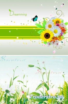 PSD исходник для фотошопа - Spring 15