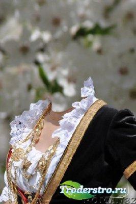 Шаблон для фотошопа - Сардский костюм 2