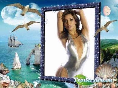 Рамочка для фотошопа - Над морем