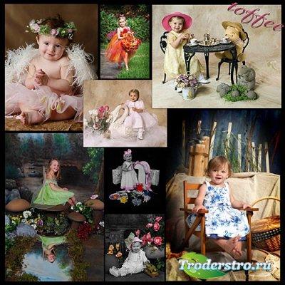 Кpасивые Фото Детей для создания свойх шаблонов для фотошопа