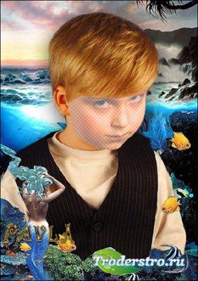 Шаблон для фотошопа - Портрет мальчика