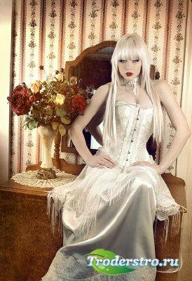 Клипарт - Леди в белом