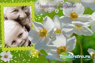 Рамка для фотошопа - Бабушке