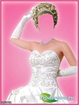 Женский шаблон для фотошоп - Красавица невеста