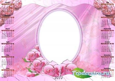 Рамочка-календарь для фотошопа - В розовом стиле