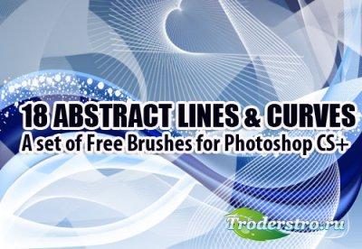 18 Abstract Photoshop Brushes - Кисти для Фотошопа
