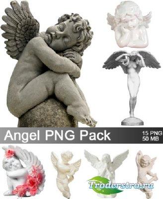 Статуэтки ангелов - PNG Клипарт для фотошопа