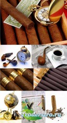 Stock Foto - Сигары и трубки