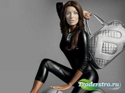 Шаблон для фотошопа - Спортивная леди