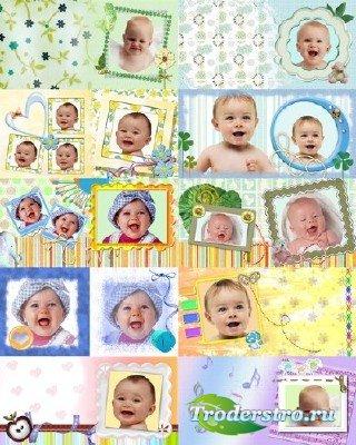 Набор детских рамок #2 для Photoshop