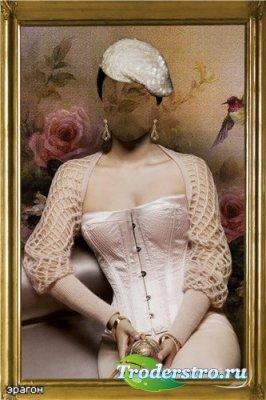 Женский шаблон для фотошопа – Светская дама