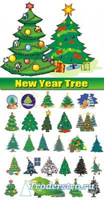 Клипарт - Новогодние елки (New Year tree)