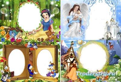 Рамочки для фотошопа детские - С мульт героями