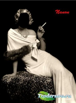 Женский шаблон для фотошоп - Ретро